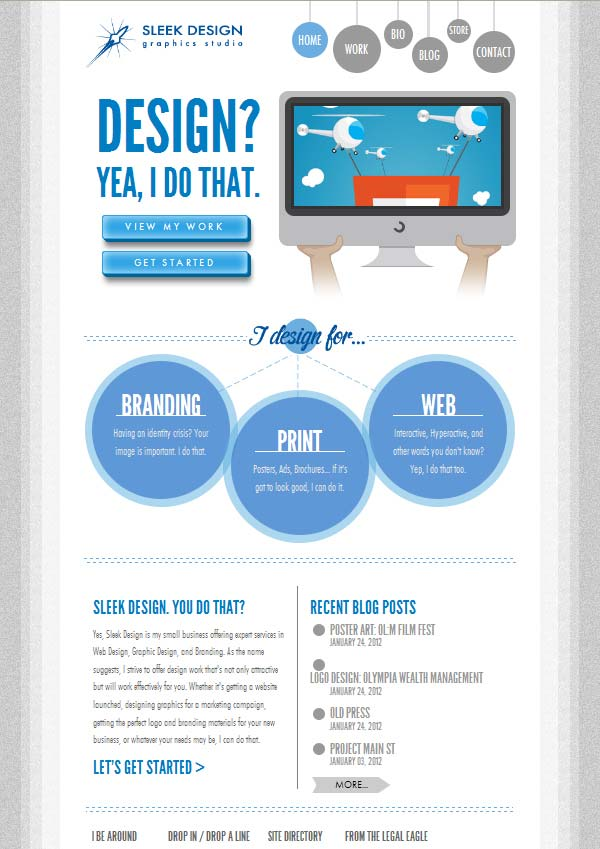 Websites using infographics