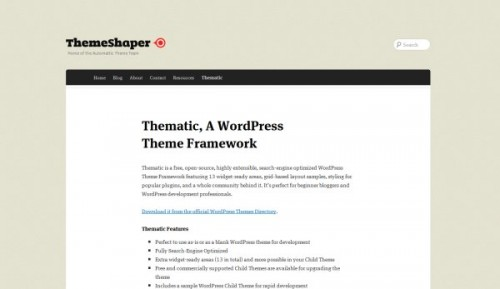 Thematic-wordpress-framework
