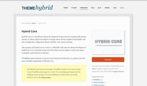 hybrid-core-wordpress-framework